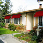 Ranch House with awnings
