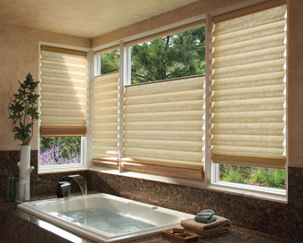 roman shades for bathrooms - Bathroom Window Treatments