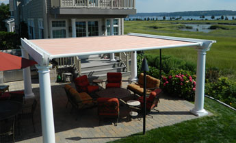 awnings product markilux fabric roof awning shading vertical roch with pergola
