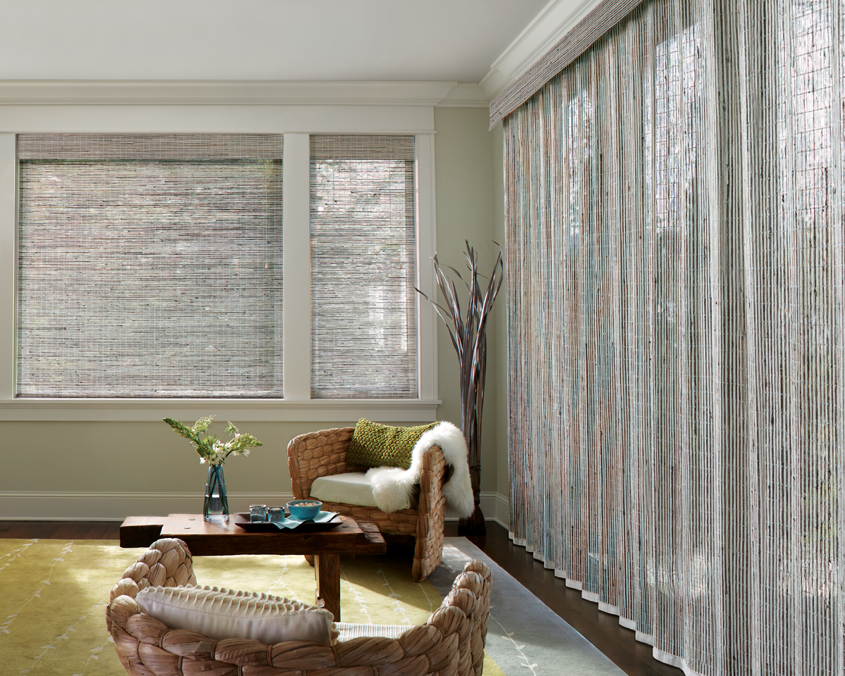 Natural Fiber Window Treatments Part - 19: Woven Wood Shades