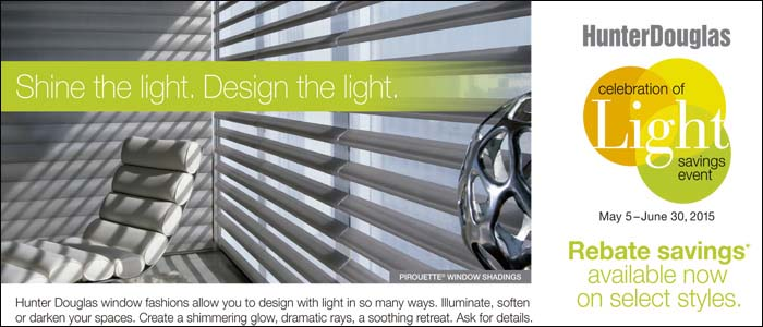 Hunter Douglas Promotions