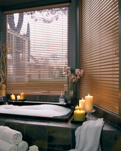 Everwood Faux Wood Blinds - Bathroom